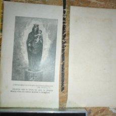 Arte: ANTIGUO GRABADO 1902 - RELIGIOSO - VIRGEN DEL PILAR ZARAGOZA. Lote 203937582