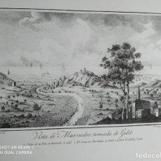 Arte: GRABADO CAVANILLES VISTA DE MURVIEDRO TOMADA DESDE GILET SAGUNTO Y GRAO DE SAGUNTO. Lote 254530385