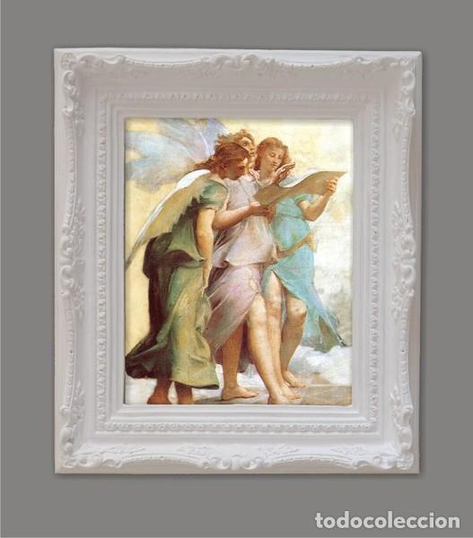 CUADRO ÁNGELES. 43X36 CM (Arte - Grabados - Contemporáneos siglo XX)