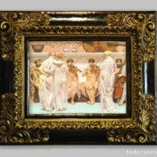 """Arte: CUADRO """"CUARTETO DE MÚSICOS"""". 64X54 CM. Lote 204173141"""
