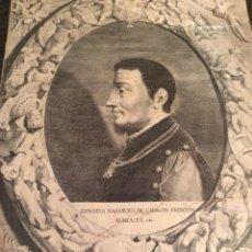 Arte: GRABADO ANTIGUO SIGLO XVII DE RENATUS NASSAVIUS DE CHALON PRINCEPS. Lote 204185457