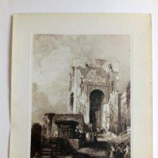 """Arte: GRABADO """"LA ALHAMBRA. PUERTA DE LA JUSTICIA"""", MIR / ROBERTS, 1825. Lote 204414676"""