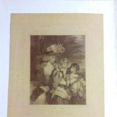 "Arte: GRABADO INGLÉS ANTIGUO ""LADY SMYTH"". Lote 204416456"