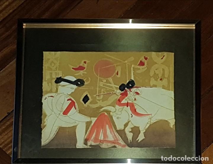 CUADRO TAURINO DE NASSER OVISSI (Arte - Grabados - Contemporáneos siglo XX)