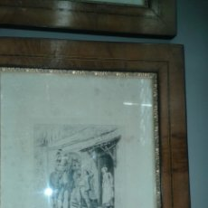 Arte: GRABADO ORIGINAL DE J.L.E. MEISSONIER ( EXPOSITION MEISSONIER, 1893). Lote 204737632
