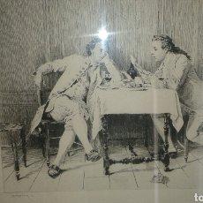 Arte: GRABADO ORIGINAL DE J.L. MEISSONIER ( EXPOSITION MEISSONIER, 1893). Lote 204737713