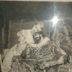 Arte: GRABADO ORIGINAL DE J.L.E. MEISSONIER (EXPOSITION MEISSONIER, 1893). Lote 204737741