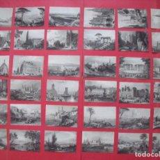 Arte: GRABADOS.-CIUDADES DEL MUNDO.-MONUMENTOS.-LOTE GRABADOS AL ACERO.-GRAN LOTE DE 36 GRABADOS.-S. XIX.. Lote 205059907