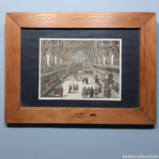 Arte: ANTIGUO GRABADO ILUMINADO S. XIX / INTERIOR OF OLD WESTMINSTER HALL ( PRINT IN 1797 ). Lote 205092983