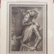 Arte: GRABADO RETRATO DE VASCO NUÑEZ DE BALBOA, POR J. MAEA. MADRID. 1791.. Lote 205278972