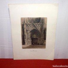 Arte: GRABADO DE ERNEST FURIO - CATEDRAL PORTA DELS APOSTOLS - VALENCIA.65 X 48 CM.. Lote 205335566