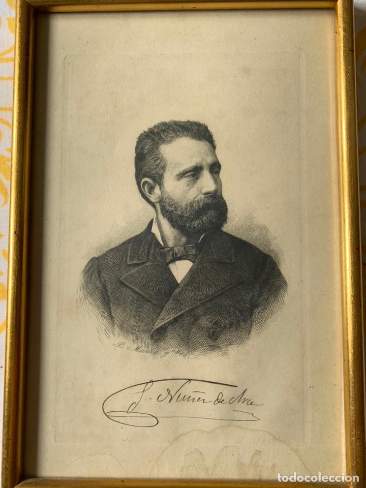 Arte: Colección de grabados firmados por B Maura . A modo de retratos todos firmados entre 1880 y 1885 - Foto 2 - 205366563