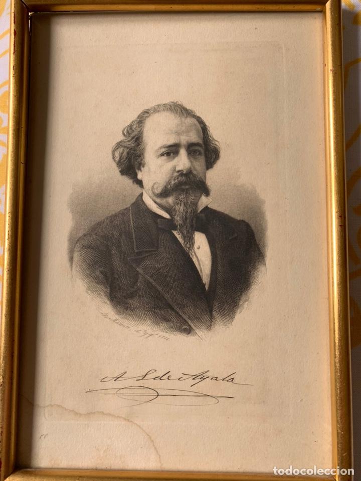 Arte: Colección de grabados firmados por B Maura . A modo de retratos todos firmados entre 1880 y 1885 - Foto 4 - 205366563