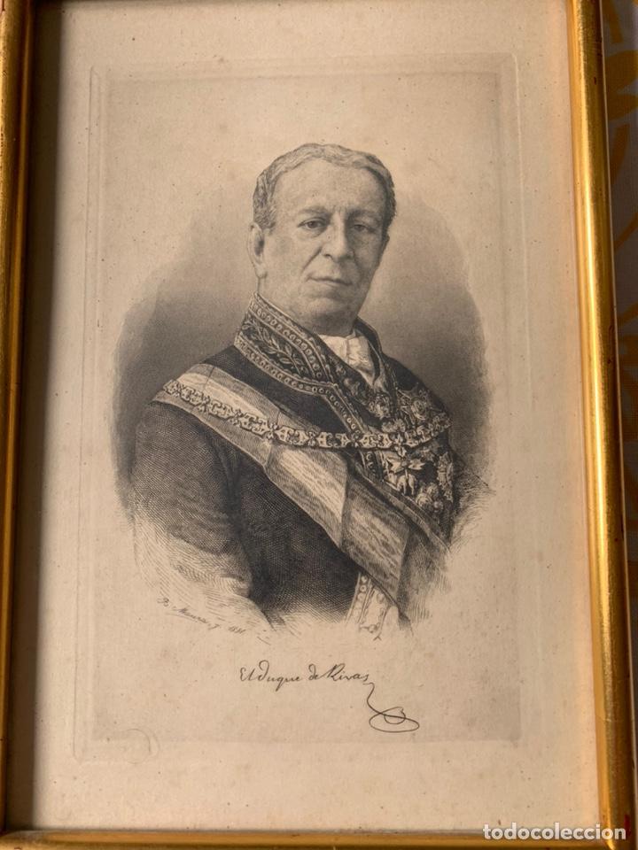 Arte: Colección de grabados firmados por B Maura . A modo de retratos todos firmados entre 1880 y 1885 - Foto 5 - 205366563