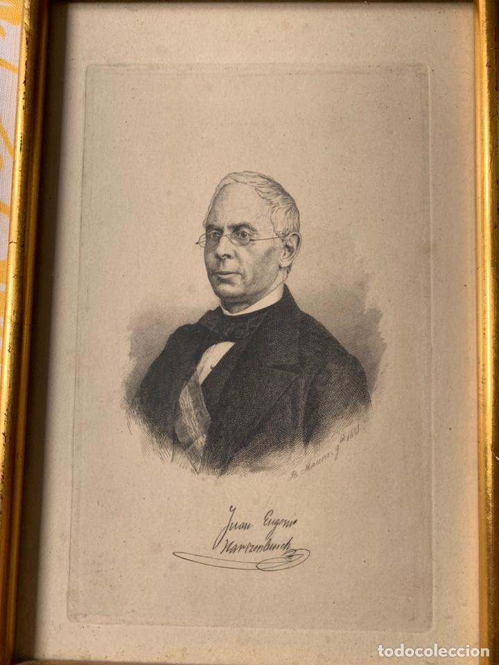 Arte: Colección de grabados firmados por B Maura . A modo de retratos todos firmados entre 1880 y 1885 - Foto 6 - 205366563