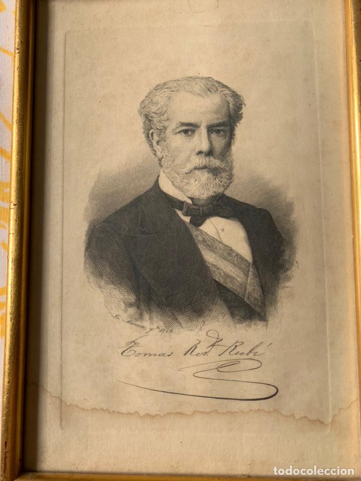 Arte: Colección de grabados firmados por B Maura . A modo de retratos todos firmados entre 1880 y 1885 - Foto 7 - 205366563