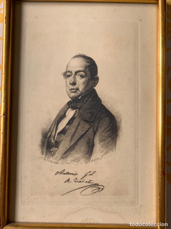 Arte: Colección de grabados firmados por B Maura . A modo de retratos todos firmados entre 1880 y 1885 - Foto 8 - 205366563