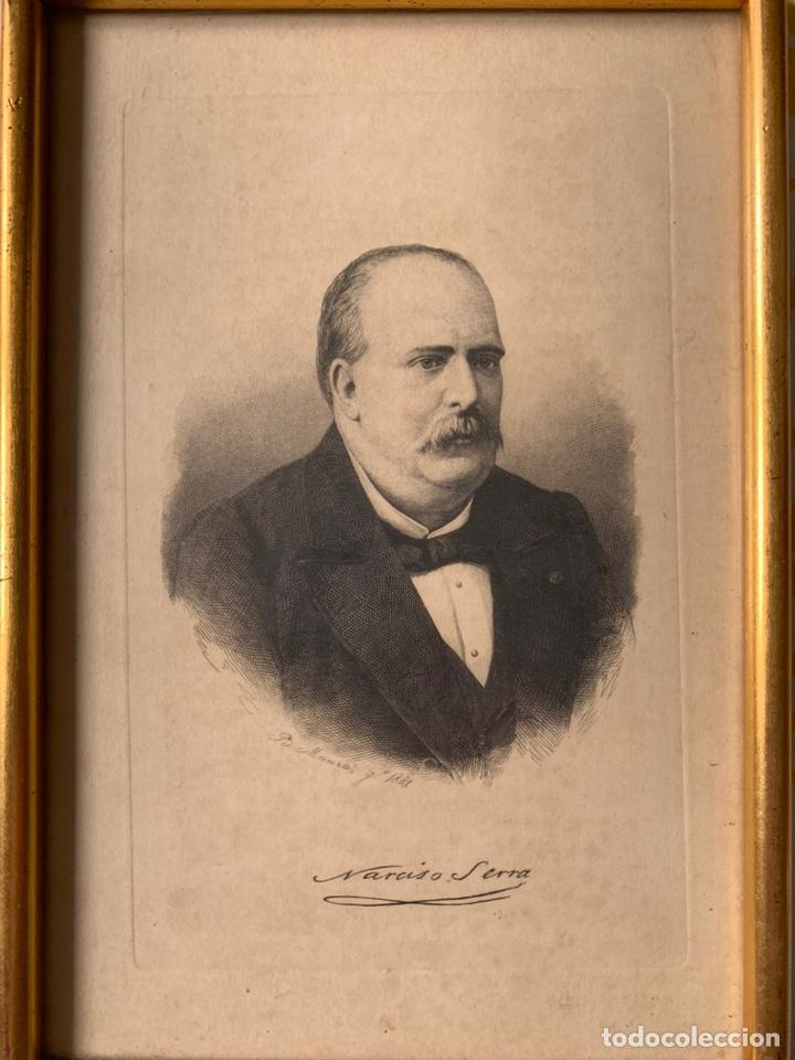 Arte: Colección de grabados firmados por B Maura . A modo de retratos todos firmados entre 1880 y 1885 - Foto 9 - 205366563