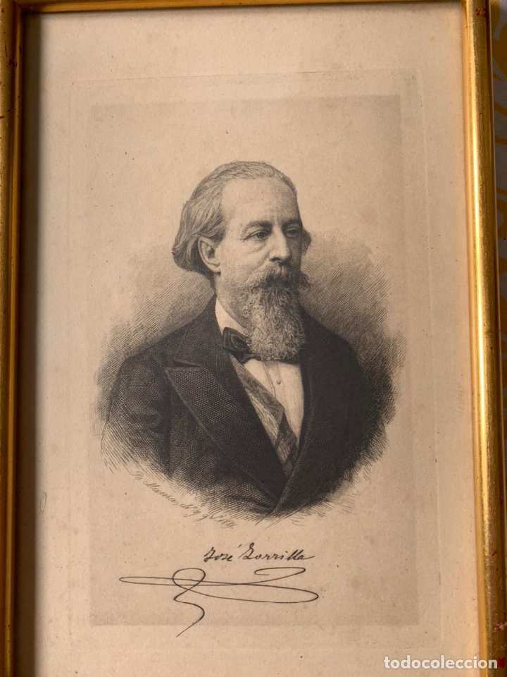 Arte: Colección de grabados firmados por B Maura . A modo de retratos todos firmados entre 1880 y 1885 - Foto 10 - 205366563