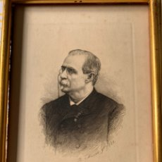 Arte: COLECCIÓN DE GRABADOS FIRMADOS POR B MAURA . A MODO DE RETRATOS TODOS FIRMADOS ENTRE 1880 Y 1885. Lote 205366563