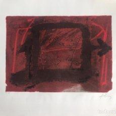 Arte: GRABADO DE ANTONI TÀPIES - NUMERADO Y FIRMADO A LÁPIZ. Lote 205532345