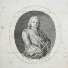 Arte: GRABADO AL BURIL DE PEDRO PASCUAL MOLES PINTADO POR MANUEL TRAMULLES. SIGLO XVIII.. Lote 205540020