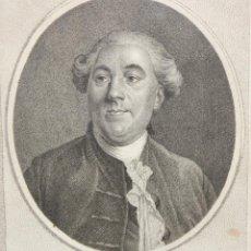 Arte: GRABADO DEL SIGLO XIX REPRESENTANDO A JACQUES NECKER (GINEBRA 1732 - COPPET 1804). Lote 205540561