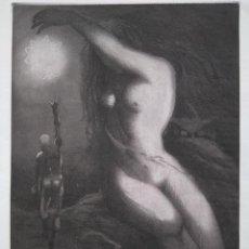 Arte: ALBERTO SOLSONA: AGUAFUERTE PARA LOS POEMAS DE WALT WHITMAN. NÚMERO XXI/25. Lote 205566961