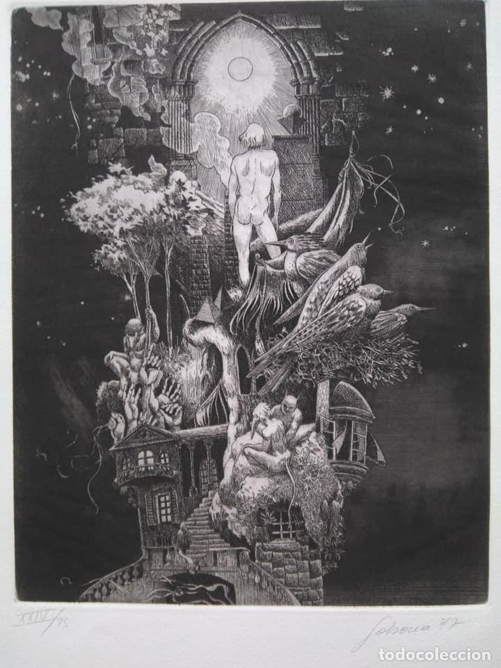 ALBERTO SOLSONA: AGUAFUERTE PARA LOS POEMAS DE WALT WHITMAN. NÚMERO XXIV/25 (Arte - Grabados - Contemporáneos siglo XX)