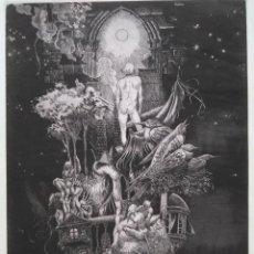 Arte: ALBERTO SOLSONA: AGUAFUERTE PARA LOS POEMAS DE WALT WHITMAN. NÚMERO XXIV/25. Lote 205567168