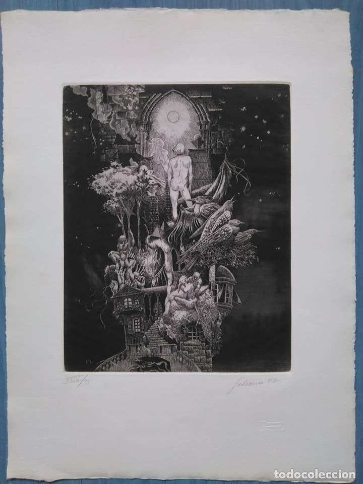 Arte: Alberto Solsona: Aguafuerte para los Poemas de Walt Whitman. Número XXIV/25 - Foto 2 - 205567168