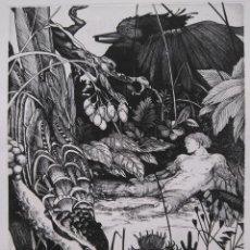 Arte: ALBERTO SOLSONA: AGUAFUERTE PARA LOS POEMAS DE WALT WHITMAN. NÚMERO XXV/25. Lote 205567316