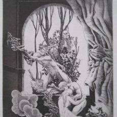 Arte: ALBERTO SOLSONA: AGUAFUERTE PARA LOS POEMAS DE WALT WHITMAN. NÚMERO XXV/25. Lote 205567607