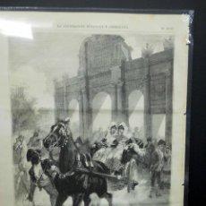 Arte: LAS AFICIONADAS A TOROS DE DANIEL PEREA, GRABADO ILUSTRACION ESPAÑOLA Y AMERICANA. Lote 205658548