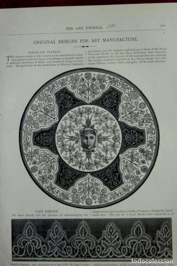 Arte: Porcelain plateau 1880, grabado the Art Journal 1880, montaje cuadro - Foto 2 - 205662301