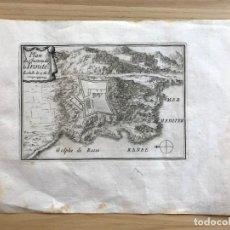 Arte: GRABADO ANTIGUO S. XVII PLAN DU CHASTEAU DE LA TRINITE [1660] BEAULIEU GOLFO ROSAS GIRONA CATALUÑA. Lote 205690673