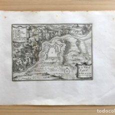 Arte: GRABADO ANTIGUO SIGLO XVII PLAN DE LA VILLE D´AGER. BEALIEU. [1660]. LÉRIDA LLEIDA CATALUÑA. Lote 205690990