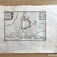 Arte: GRABADO ANTIGUO SIGLO XVII PLAN DE LA VILLE DE PUIGCERDÁ BEAULIEU 1678 GIRONA GERONA CATALUÑA. Lote 205691122