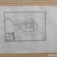 Arte: GRABADO ANTIGUO SIGLO XVII PLAN CHASTEAU D´ARBEC ARBECA [1660] BEAULIEU LLEIDA LÉRIDA CATALUÑA. Lote 205697782