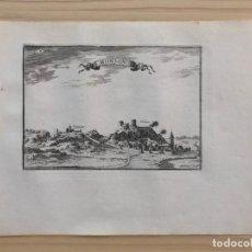 Arte: GRABADO ANTIGUO SIGLO XVII MONSON MONZÓN 1668 BEAULIEU HUESCA ARAGÓN. Lote 205704861