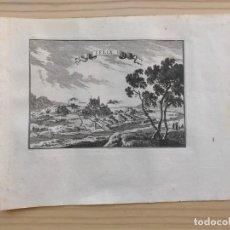 Arte: GRABADO ANTIGUO SIGLO XVII FLIX [1660] BEAULIEU TARRAGONA CATALUÑA. Lote 205705132