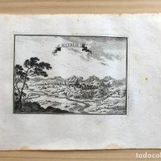 Arte: GRABADO ANTIGUO SIGLO XVII MANRESE MANRESA [1660] BEAULIEU BARCELONA CATALUÑA. Lote 205706095