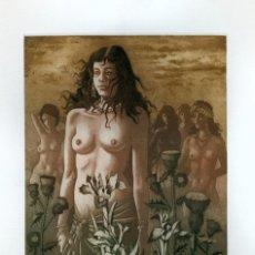 Arte: CELEDONIO PERELLÓN. GRABADO ORIGINAL. FIRMADO Y NUMERADO. 1989. Lote 205725802