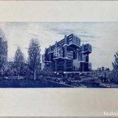 Arte: GRABADO ORIGINAL DE JOSE LUIS AGUIRRE , JAELIUS , EDIFICIO LOS CUBOS, 2005. Lote 205775145