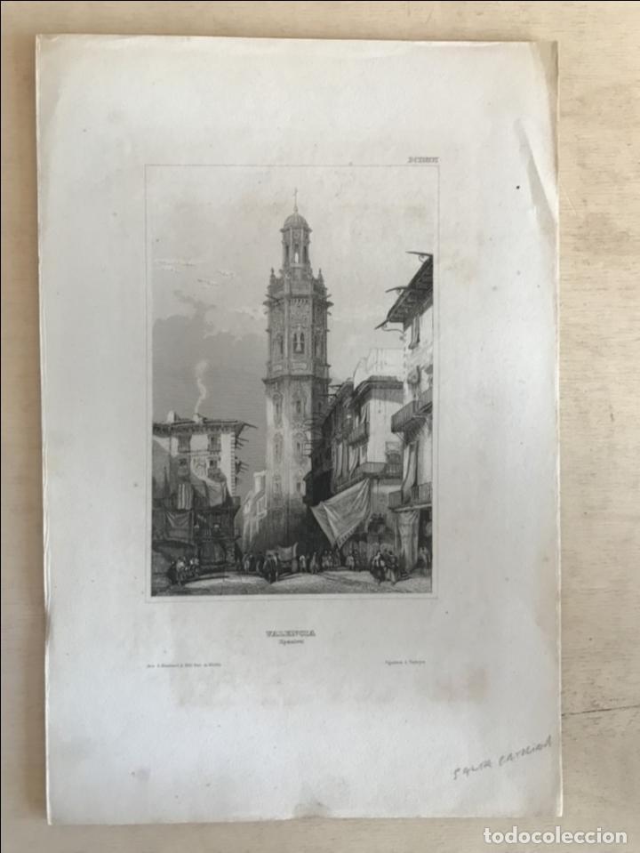 Arte: Torre barroca de santa Catalina de Valencia (España), hacia 1850. Bibli. Inst. in Hidburghansen - Foto 2 - 205800351