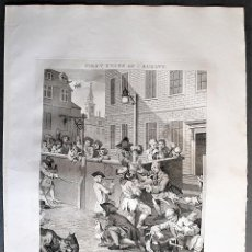 Arte: WILLIAM HOGARTH, DESIGNED - T. COOK, ENGRAVE. FIRST STAGE OF CRUELTY.. Lote 205825918