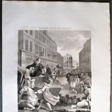 Arte: WILLIAM HOGARTH, DESIGNED - T. COOK, ENGRAVE. SECOND STAGE OF CRUELTY.. Lote 205826070