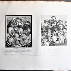 Arte: WILLIAM HOGARTH, DESIGNED - T. COOK, ENGRAVE. THE COMPANY OF UNDERTAKERS - THE LECTURE.. Lote 205827341