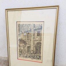 Arte: IMPRESION CONVENTO DE GUISANDO FIRMA ILEGIBLE 65X50CMS. Lote 205857437
