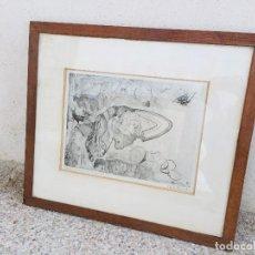 Arte: CLAUDE PERRAND GRABADO COBRE METAL EL ARCA PRUEBA DE ESTADO AÑOS 56X64CMS. Lote 206137675